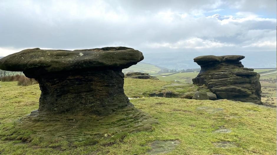 Ilkley to The Doubler Stones loop walk
