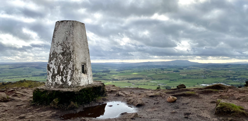 A circular walk up Sharp Haw with a well-deserved beer!