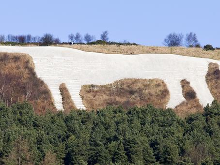 The iconic White Horse of Kilburn