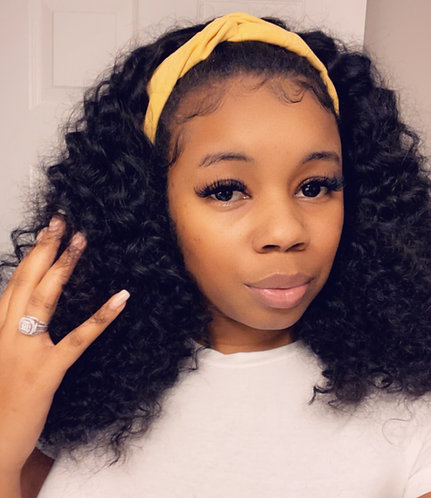 Custom Headband wig (curly)