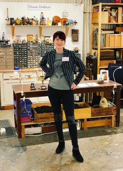 Dianne in her Studio