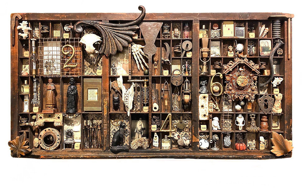 Assemblage artwork by Dianne Hoffman