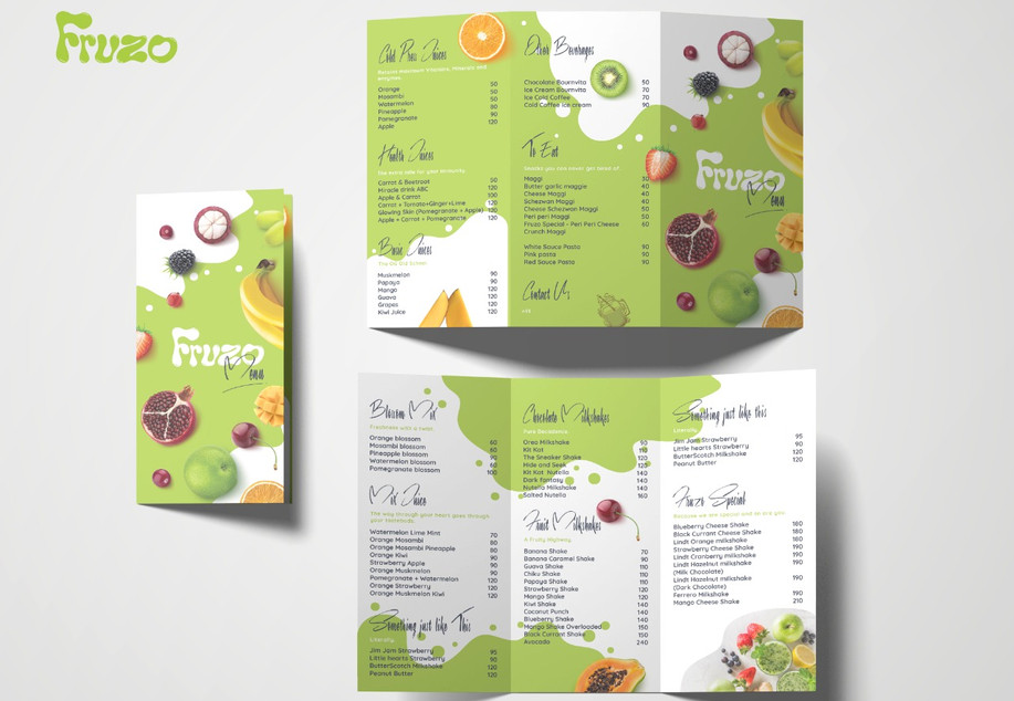 Fruzo Menu Design_Design Process