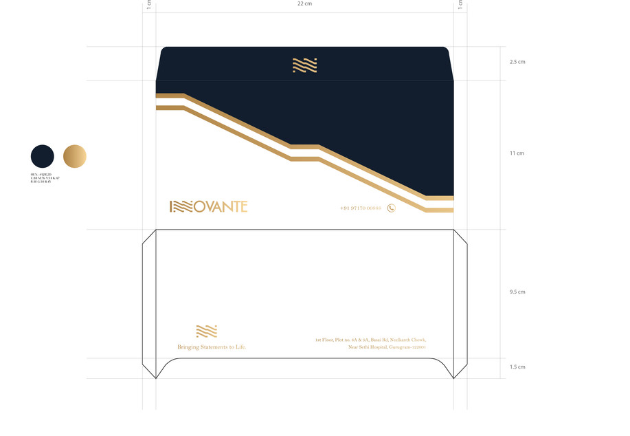 Innovante Folding Envelope_Design Process