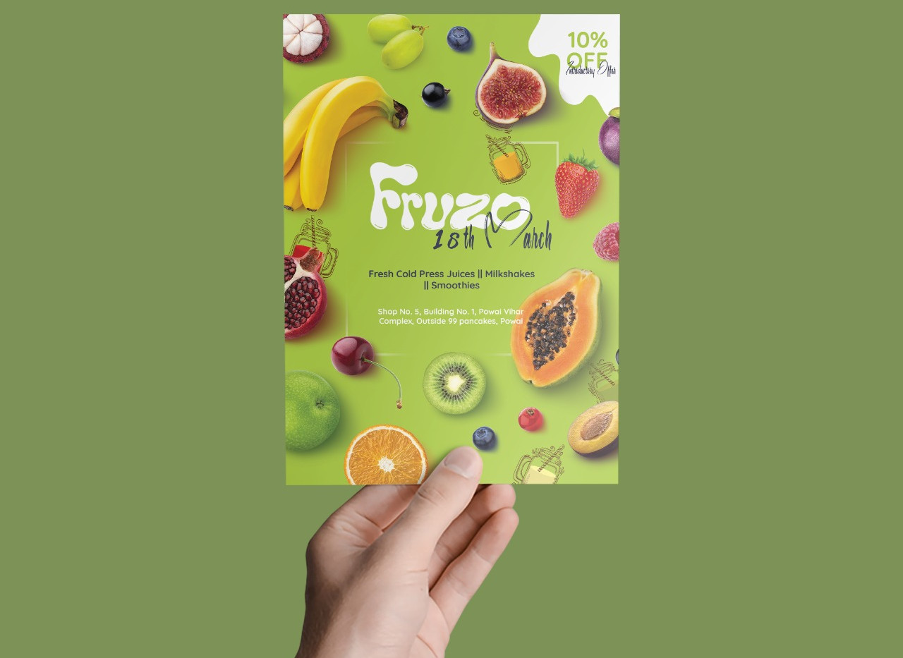 Fruzo Flyer Design_Design Process