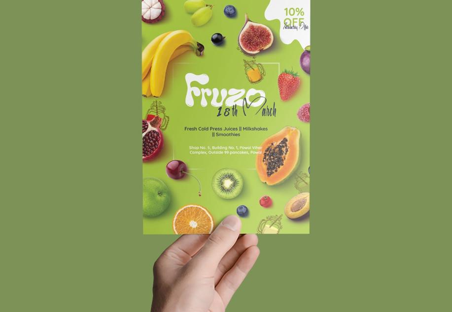 Fruzo Flyer Design_Design Process