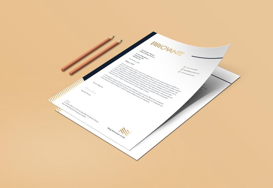 Innovante Letterhead_Design Process