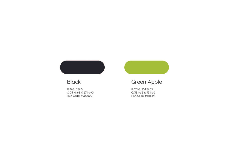 Fruzo Color Scheme- Design Process