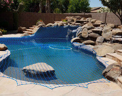 Rock Wall Pool Net