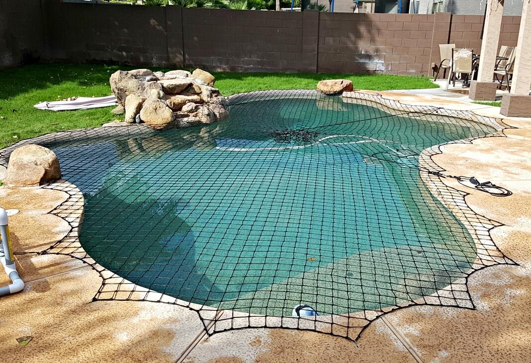 Black Pool Safety Netting
