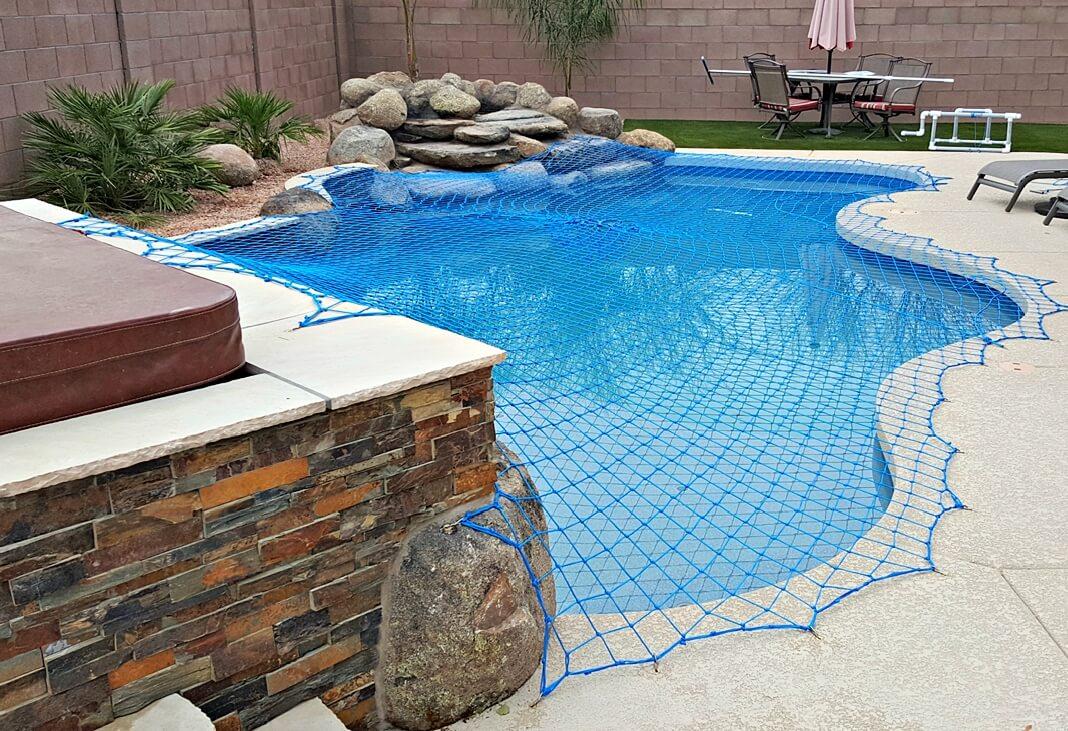 Pool Rock Wall Net