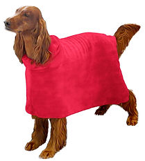 The Snuggly Dog Easy Wear Pink dog bath towel