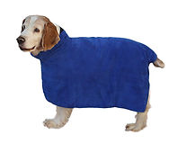 Dylan in his plush spa bath dog wear