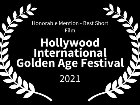 KISSING CARMEN Wins Honourable Mention, Best Short Film at Hollywood International Golden Age Fest