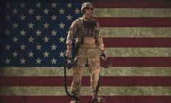 USA Flag Distressed Poster