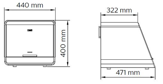 UV-C Disinfection Mini Chamber - Drawing