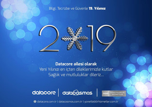 Datacore ailesi olarak; Yeni Yılınızı en içten dileklerimizle kutlar, Sağlık ve mutluluklar dileriz.