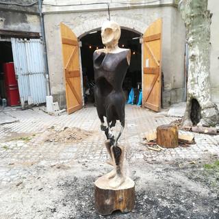 Sculpture collective en cours