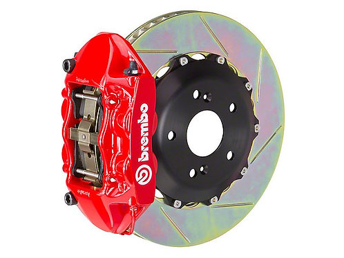 Brembo GT Series 4-Piston Rear Big Brake Kit with 15-Inch Type 3 Slotted Rotors;