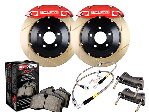 StopTech Big Brake Kit; Black Caliper; Slotted Two-Piece Rotor; Front Front