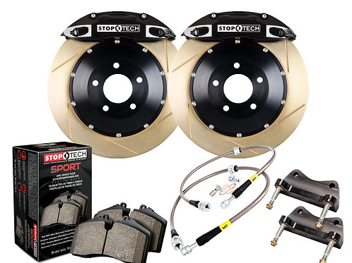 StopTech Big Brake Kit; Blue Caliper; Drilled Two-Piece Zinc Coated Rotor; Front