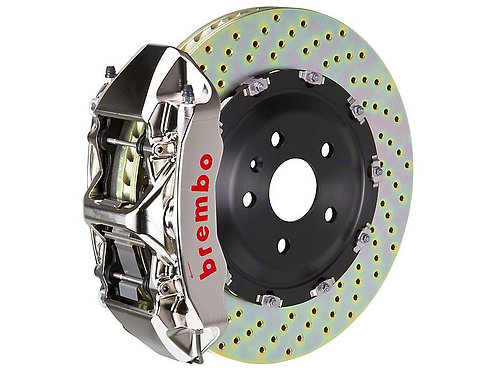 Brembo GT-R Series 6-Piston Front Big Brake Kit with 15-Inch Drilled Rotors; Nic