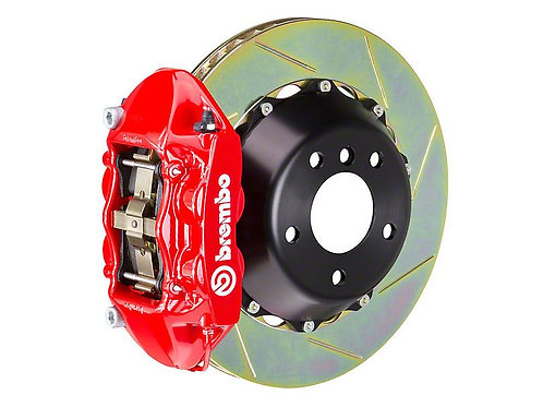 Brembo GT Series 4-Piston Rear Big Brake Kit with 15-Inch Type 1 Slotted Rotors;