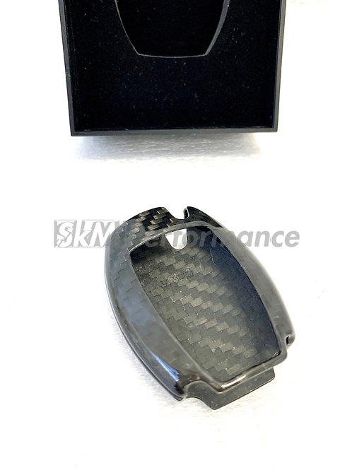 2 Pack Carbon Fiber key cover for Mercedes