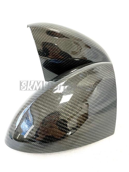 Carbon Fiber Mirror Cover Overlays BMW E90 E92 M3