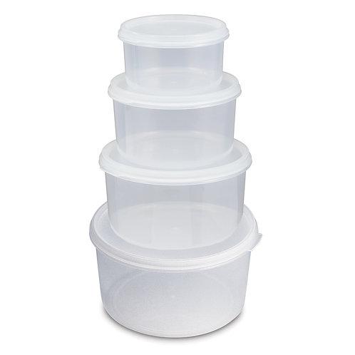 639B 套裝圓形密封式食物盒AIR-SEALED FOOD CONTAINER SET