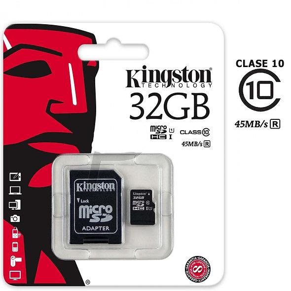 Kingston - Tarjeta de memoria flash ( adaptador microSDHC a SD Incluido ) - 32 G