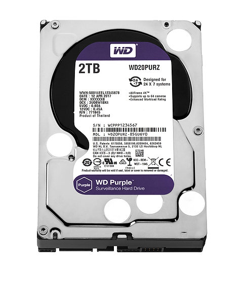 "Hdd 3.5"" Wd Purple 2tb Sata3 IntelliPower Rpm"