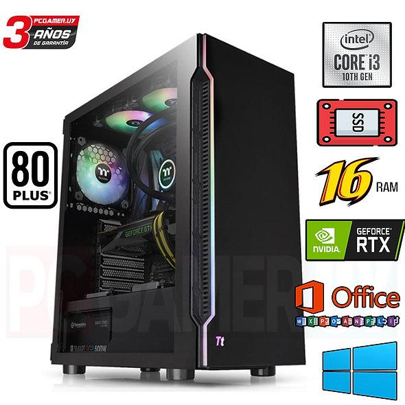 PCGAMER I3 10MA GEN 16GB DDR4 RTX 2060 SSD RGB ...