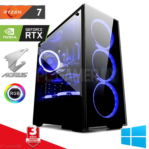 PCGAMER Ryzen 7 3800x ssd+1tb RTX 2060 RGB...