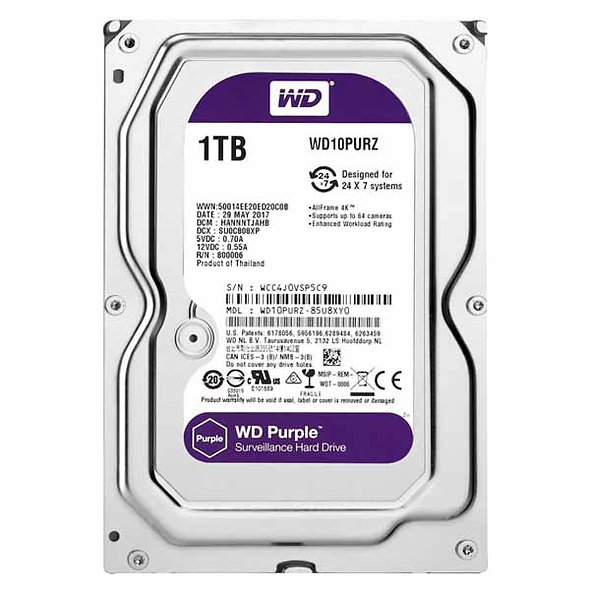 "Hdd 3.5"" Wd Purple 1tb Sata3 IntelliPower Rpm"