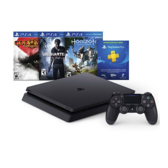Consola Sony Ps4 500gb Hits Bundle2 3 Juegos