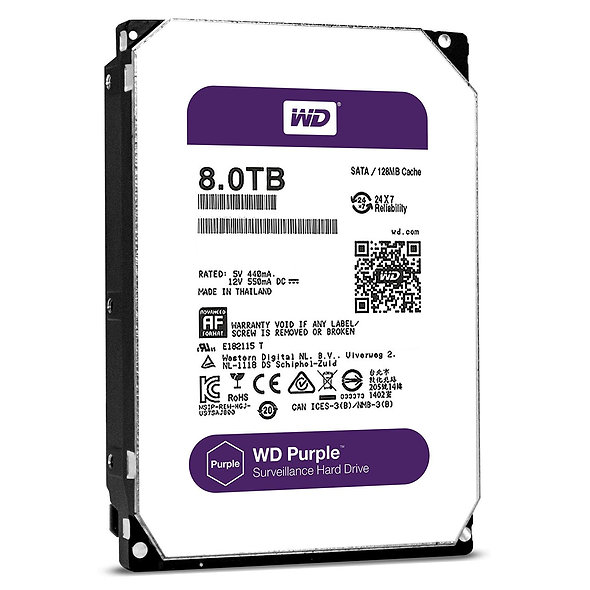 """Hdd 3.5"""" Wd Purple 8t Sata3 Intellipower"""