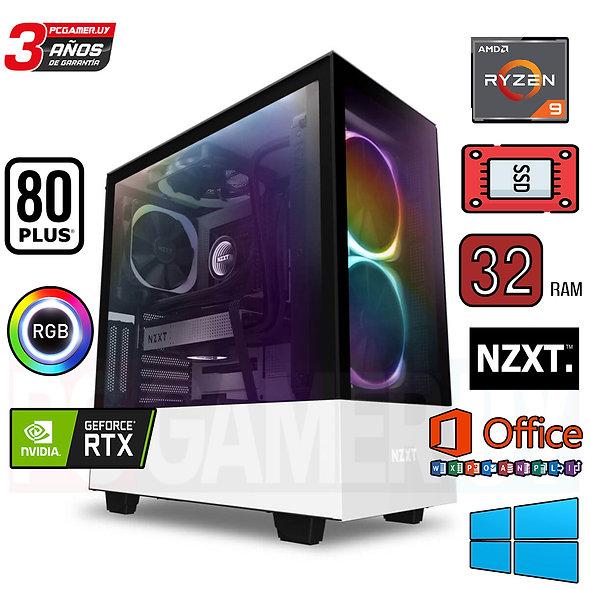PCGAMER RYZEN 9 32GB DDR4 RTX 3080TI NZXT...