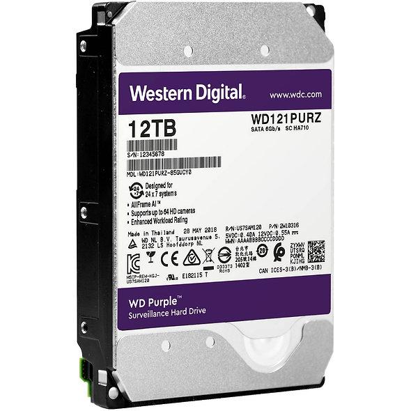 """Hdd 3.5"""" Wd Purple 12tb Sata3 Intellipower"""