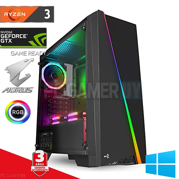 PCGAMER RYZEN 3 Ultima gen GTX 1660 RGB...
