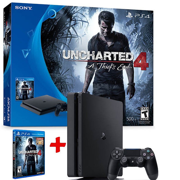 Consola Playstation 4 500GB Slim Uncharted 4