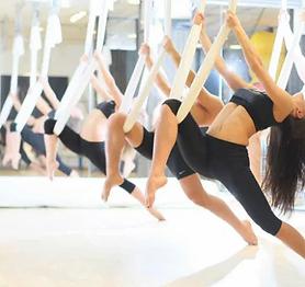 Aerial yoga in Malvern with FloFitness