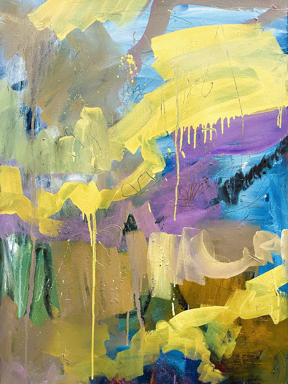 Abstract oil on paper. Stockholm 2021