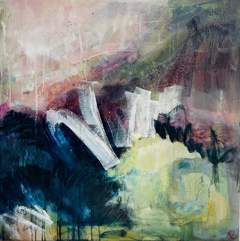 Abstract art. Oil on canvas. Sweden Stockholm