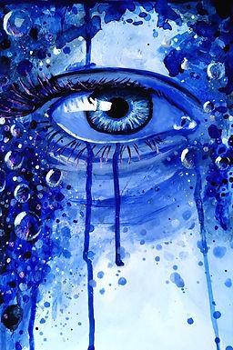 Blue bubble eye