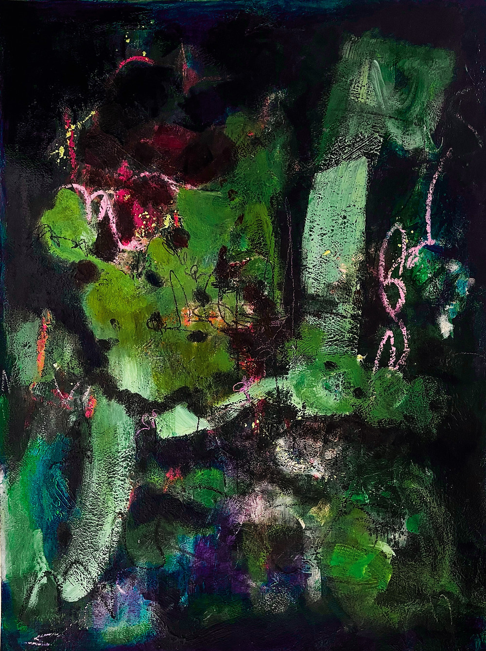 Oil painting. Abstract. Sweden 2021. Stockholm