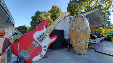 Guitar and Conga Drum Props