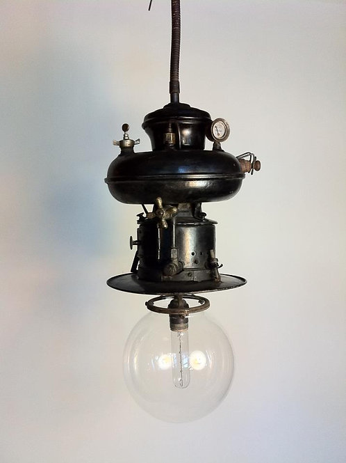Vintage German gas light, converted to US electric