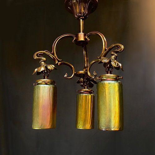 French art nouveau chandelier