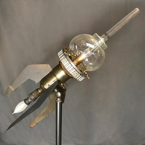 Steampunk Rocket Desk Lamp